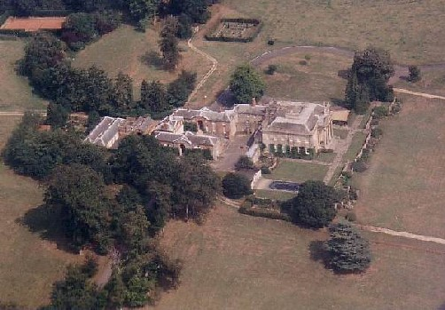 Chilton Lodge as photographed from my Cessna 120 on 4th April 1992.