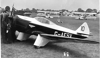 'FSV with 60hp Mikron II engine at the National Air Races, July 1957.